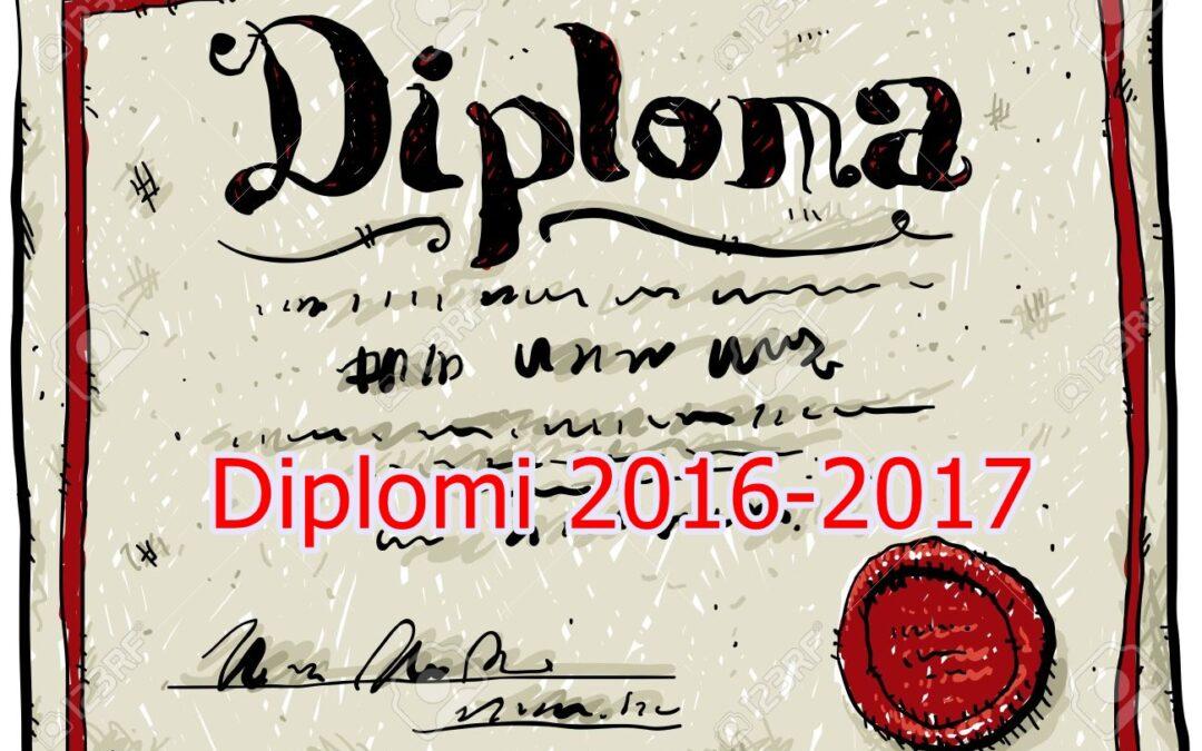 Diplomi anno scolastico 2016 – 2017
