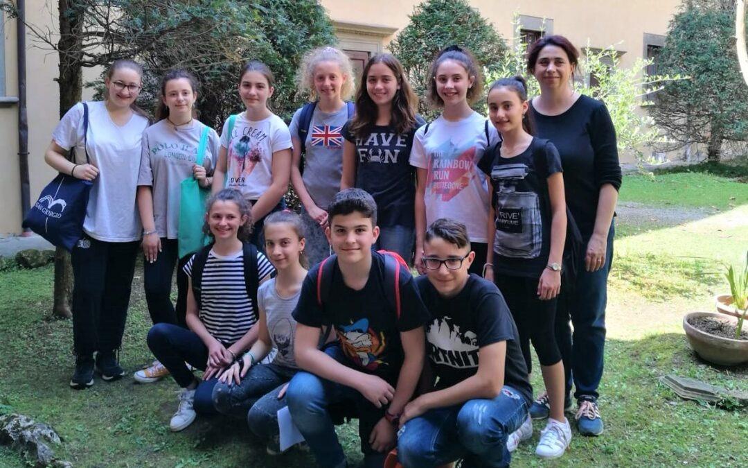 Gli studenti della scuola media di Bottegone al lavoro con i ragazzi di 4Asa e 4Dsa